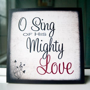 Image of &quot;Mighty Love&quot; Print on 8&quot; x 8&quot; Cafe Mount (1st of 4 prints in Hymn Collection)