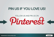 Image of Buzz Badge - Pinterest &quot;PIN US IF YOU LOVE US&quot; Window/Door Stickers and Clings