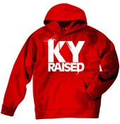 Image of KY Raised Red / White Hooded Sweatshirt