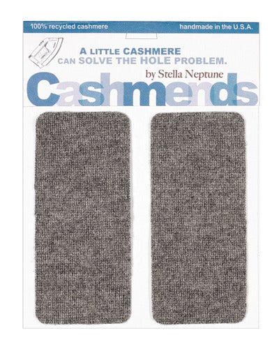 Image of Iron-on Cashmere Elbow Patches  -MEDIUM GREY