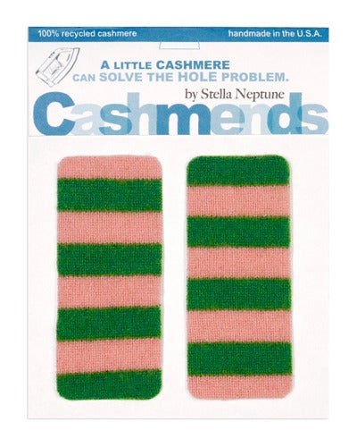 Image of Iron-on Cashmere Elbow Patches -PINK &amp; GREEN - Limited Edition!