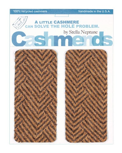 Image of   Iron-on Cashmere Elbow Patches -TWEED - Limited Edition!