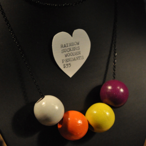 Image of Rainbow Sucker Wooden Bead Necklace