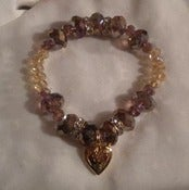 "Image of Amethyst Locket ""Holiday"" Bracelet"