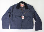 Image of Vintage 1950s Ely &amp; Walker BIG BUCK Sanforized Indigo Denim Lined Jacket 44 Deadstock w Tags