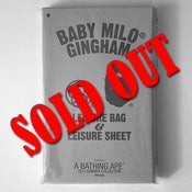 Image of BAPE  Baby Milo Gingham Leisure Bag & Sheet
