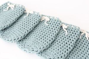 Image of Wine Bottle Cozy in Sea Foam (Set of 5)
