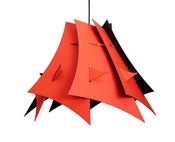 Image of Abstraction pendant light (Easter Island No. 1/red and black)