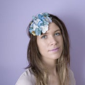 Image of Country Garden Fascinator - Blue