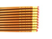 Image of pencils - as you wish - 9 gold pencils