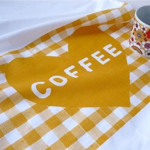 Image of Coffee Heart tea towel