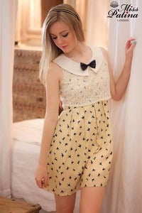 Image of *As seen on Caroline Flack!* Come Fly With Me Dress (Swallow)