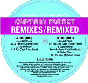 Image of Captain Planet - Remixes / Remixed 12""