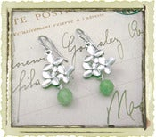 "Jewelry: ""Green Flora"" in Silver"