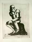 "Image of ""Thinking in a Galaxy Far Far Away "" Star Wars Etching  Lowbrow British Pop Art Graffiti Icon"