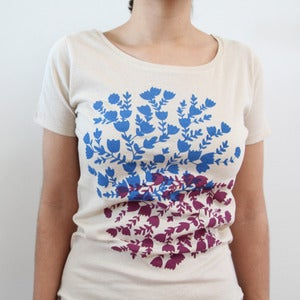 Image of Organic Cotton Bushflower Scoopneck Tee (Natural)