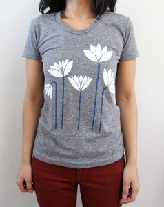 Image of Lotus Garden Heather Gray Triblend Tee