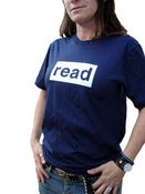 Image of read unisex tee-navy