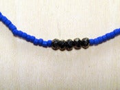 Image of BEADED CHAIN: cobalt