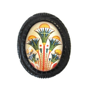 Image of Deco Flowers Carved Resin Brooch by Hotcakes Design