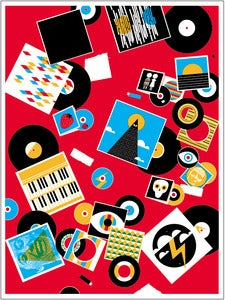 Image of Record Collection Art Print