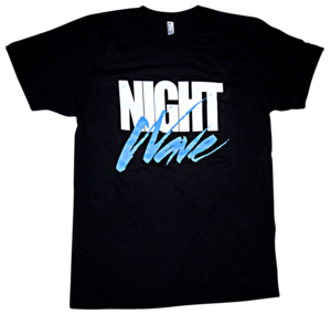 Image of HYPER CRUSH x LA GEAR NIGHT WAVE T-SHIRT (Black)