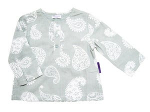 Image of Mint-Ash Paisley Kurta Shirt
