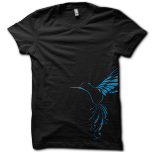 Image of Womens Bird T-shirt - Black