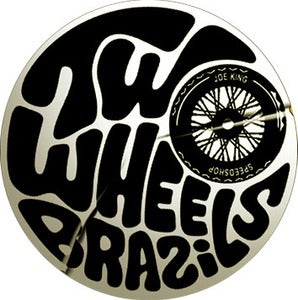 Image of Two Wheels Brazil Sticker