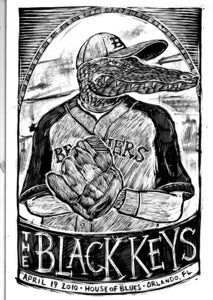 Image of The Black Keys Orlando 2010 Original Art