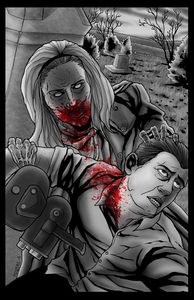 Image of NIGHT OF THE LIVING DEAD - BARBRA ZOMBIE - COLORED PRINT