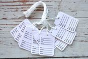 Image of White Garment Tags