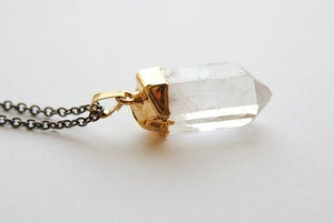 Gold Dipped Crystal Necklace