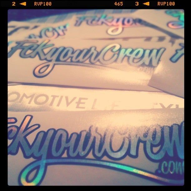Image of Original 'FCKYOURCREW' 2-layer Decal