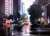 Image of Downtown Manhattan - original painting on canvas