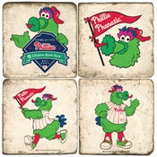 Image of Phillies Phanatic Marble Coasters