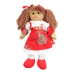 Image of Powell Craft Mini Rag Doll - Red Dress