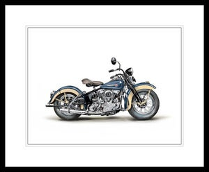 Image of 1946 Harley Davidson EL Knucklehead (Blue) - Unframed