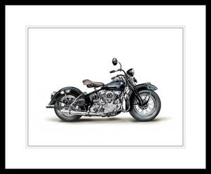 Image of 1946 Harley Davidson EL Knucklehead (Black) - Unframed