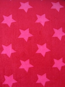Image of Cerise and fuchsia Stars Velour (by the half meter)