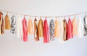 Image of Tassel Garland-Pink/Peach