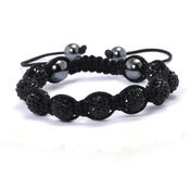 Image of Black on Black Swarovski Bracelet   HOT !!! NEW STYLE
