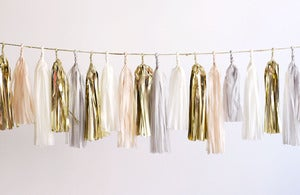 Image of NEW Tassel Garland-Neutral with Gold