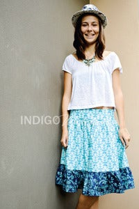 Image of Ladies Leaf/Midnight Garden Tea Skirt