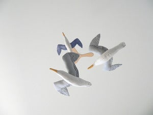 Image of kamomé mobile (two or three seagulls)