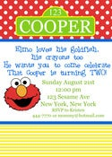 Image of Sesame Street Elmo Invitation