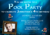 Image of Lego Deep Sea Pool Party Invitation