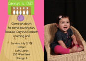 Image of Bowling Party Invitation