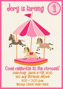 Image of Sweet Carousel Invitation