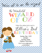 Image of Wizard of Oz Invitation #1